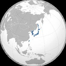 Location of Japan (Fascist Britain)