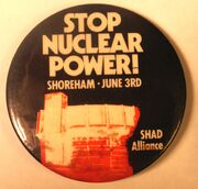 Shoreham anti-nuclear button