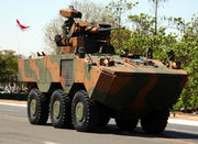 VBTP-MR Guarani is a 6x6 armored personnel carrier by Fiat's IVECO Brazilian Army URUTU-3 UT-30BR turret REMAX – (Reparo de Metralhadora automatizada Brazilian remote weapon system CTEx (2)