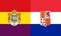 French-Spanish Republic Flag