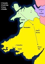 Civil War Wales Gwynedd Advance