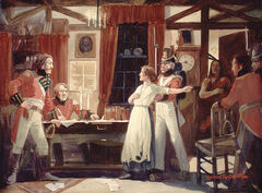 Laura Secord warns Fitzgibbons, 1813