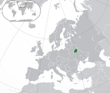 Location of Byeloslavia
