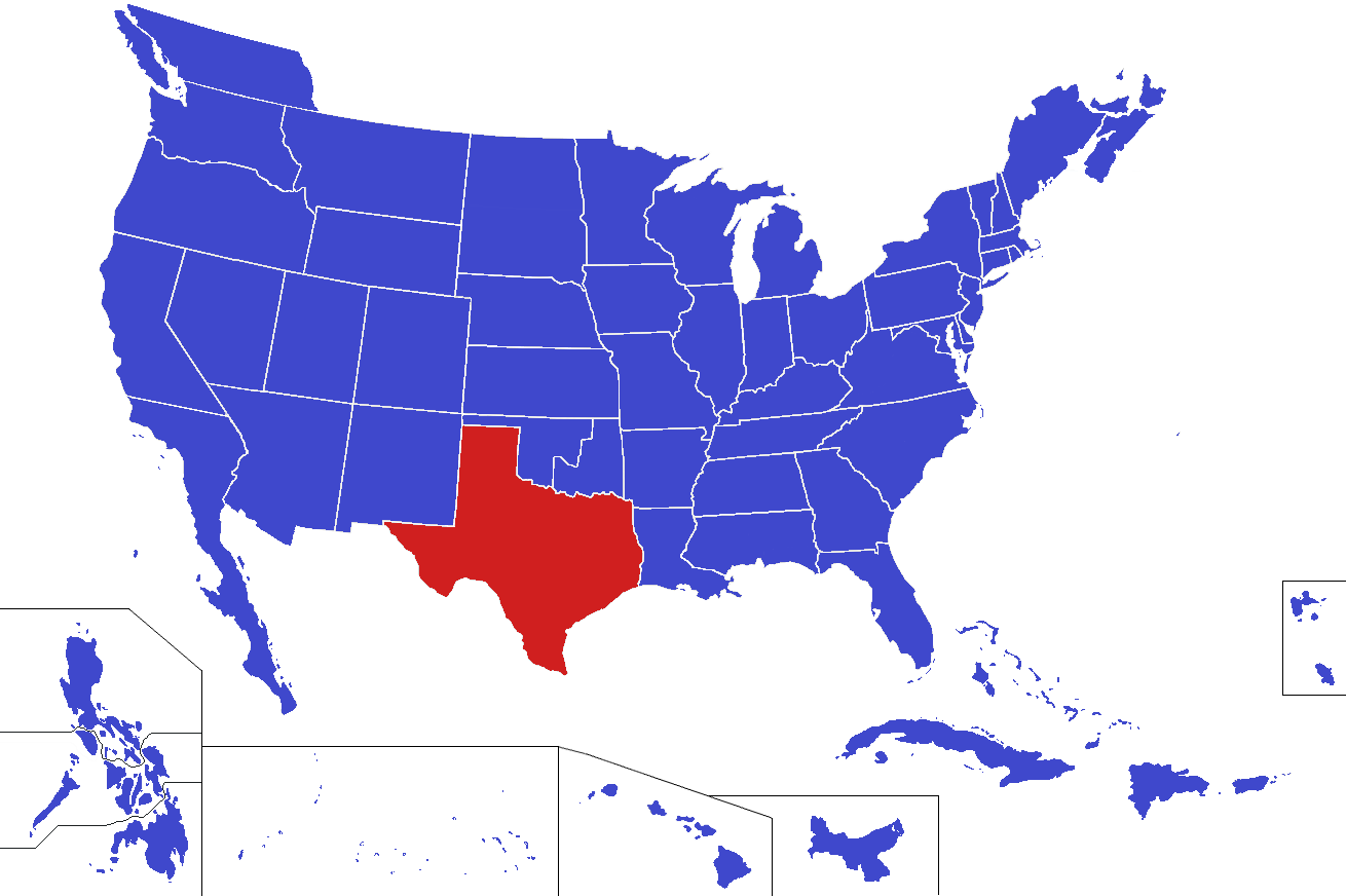 a history of texas in the united states Introduction most of the states that make up the united states today were at one  point territories of the us, acquired over time and gradually admitted to the.