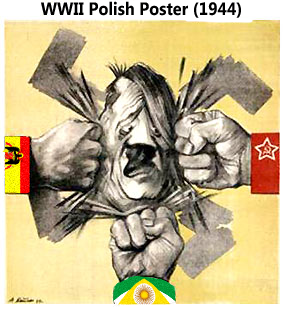 Soviet propeganda Poster WWII (Pax Columbia)
