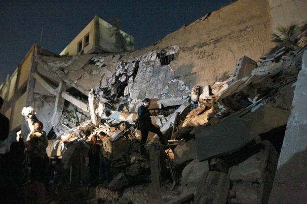 File:Bab al-Azizia hit by NATO air strike (SIADD).jpg