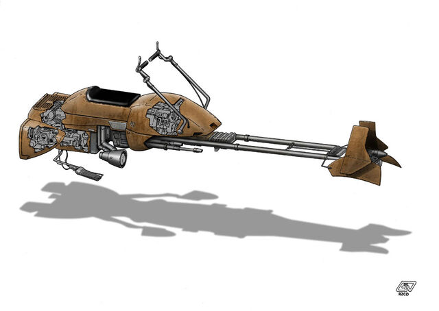 File:W i P Star Wars Speeder Bike by Paul Muad Dib.jpg