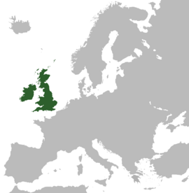 UK of Britain & Ireland in Europe