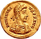 Honorius Golden Coin