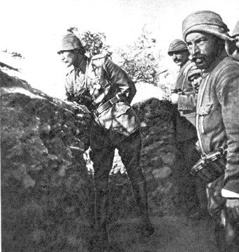 Turkish trenches at Gallipoli