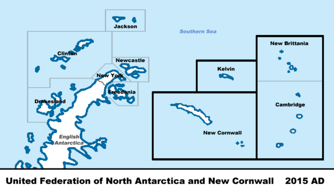 North Antarctica Map VINW 2