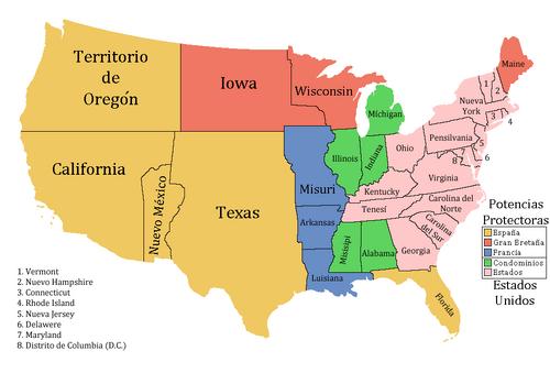 División de Estados Unidos 1848 (¡Viva la Pepa!)