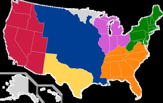 Map of the American States (Contritum Civitatibus)