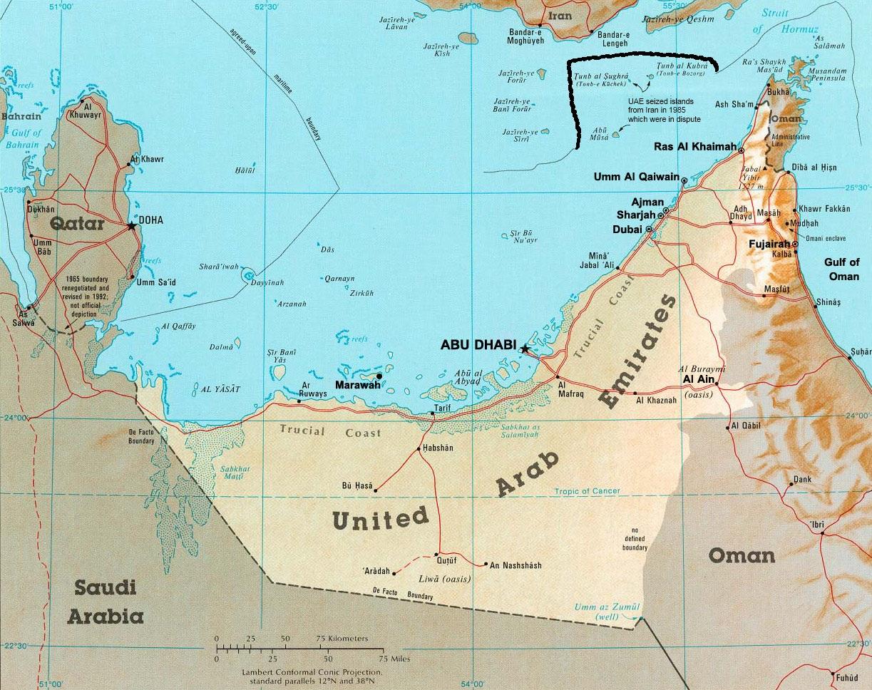 United Arab Emirates 1983 Doomsday – Location of Uae in World Map