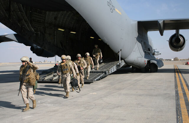 File:1st Battalion, 6th Marine Regiment disembark C17 surge Afghanistan 2009.jpg