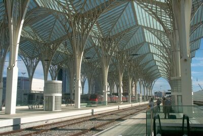 Oriente Station Lisboa roof