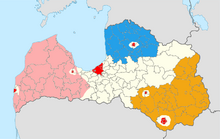 Latvia Map (1983)