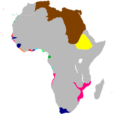 Scramble for Africa Map 1828