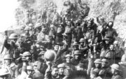 800px-US 64th regiment celebrate the Armistice