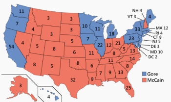 United States presidential election in New Hampshire, 2000