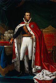 Willem I in kroningsmantel