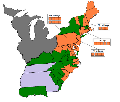 1788-89 United States House of Representatives Election Results