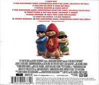 Alvin and the Chipmunks Original Motion Picture Soundtrack Back Cover