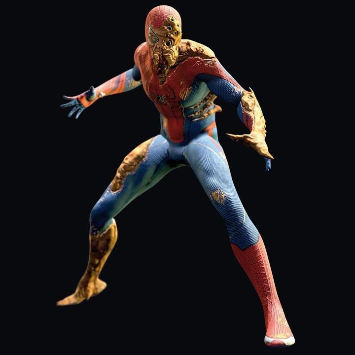 Человека паука из бумаги схемы