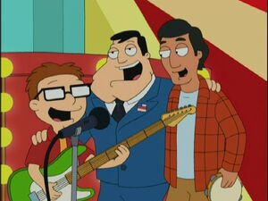 american dream and roger and me American dad character: roger the alien gender:  (his blood is only seen in a dream klaus was having)  with stan in roger 'n' me.