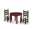 Lazy Susan Table and Chairs