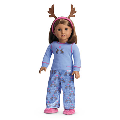 Image result for american girl reindeer pajamas