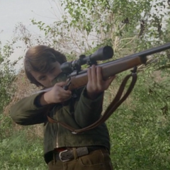 Young Hank aiming the Forest Witch.