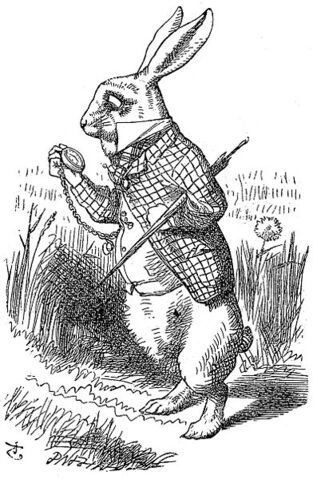 File:White Rabbit looking at his watch.jpg