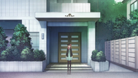 The Heroine Outside Her Apartment