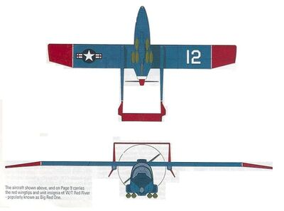 Skyhawk Mk 2 front and bottom elevation