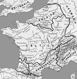 Map Gaul Folks Towns