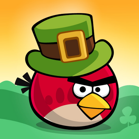 File:Angry Birds Seasons Square Icon Go Green, Get Luck.png