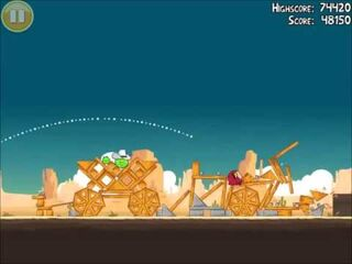 Official Angry Birds Walkthrough Ham 'Em High 12-5