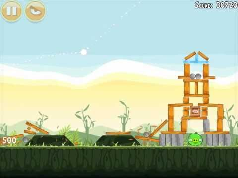Official Angry Birds Walkthrough Poached Eggs 2-16