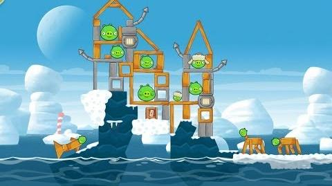 Angry Birds Seasons Arctic Eggspedition 1-21 Walkthrough 3 Star