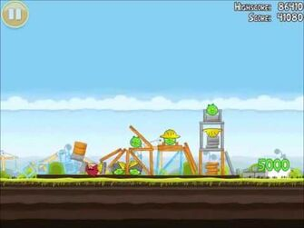 Official Angry Birds Walkthrough The Big Setup 10-4