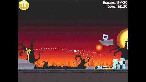 Angry Birds Seasons Trick or Treat 3-2 Halloween 2011 Walkthrough 3 Star