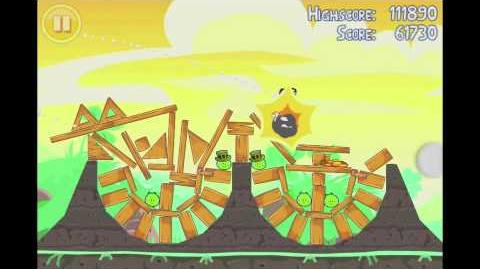 Angry Birds Seasons Go Green, Get Lucky 3 Star Walkthrough Level 13