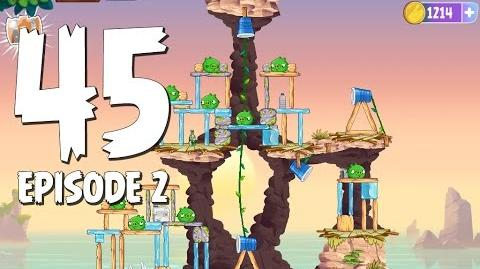 Angry Birds Stella Level 45 Episode 2 Beach Day Walkthrough
