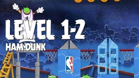 Angry Birds Seasons Ham Dunk 1-2 Walkthrough 3 Star