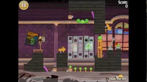 "Angry Birds Seasons Haunted Hogs Golden Egg 38 Walkthrough 2013 ""Big Bat"""