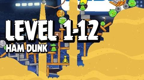 Angry Birds Seasons Ham Dunk 1-12 Walkthrough 3 Star