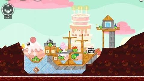 Angry Birds Birdday Party Cake 4 Level 12 Walkthrough 3 Star
