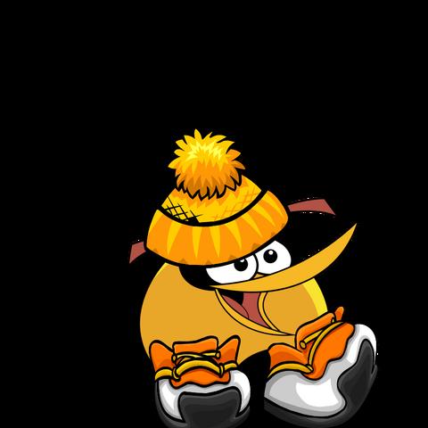 File:Christmas Orange Bird.png