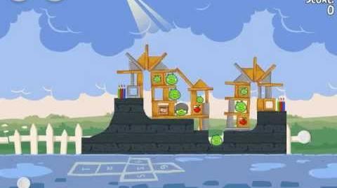 Angry Birds Seasons Back to School Golden Egg 37 Walkthrough 2012